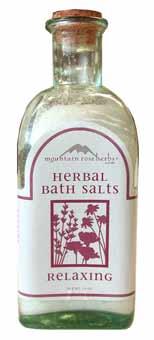 relaxing herbal bath