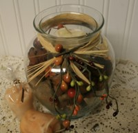 Homemade Christmas Crafts, potpourri jar candle